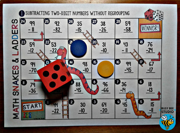 Subtraction Game: 2-digit subtraction without regrouping