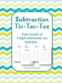 Subtraction Game- 3 digit subtraction tic-tac-toe