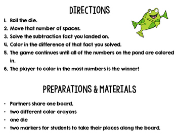 Subtraction Game Board