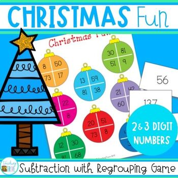 Subtraction Game - Christmas Freebie