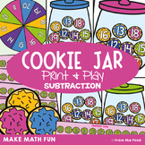 Subtraction Game - Cookie Jar - Print and Play