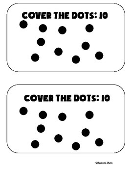 Subtraction Game: Cover the Dots