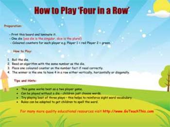 Subtraction Games for Basic Skills, Strategy Practice & Number Fluency