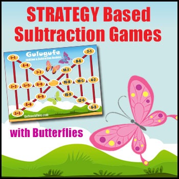 Addition & Subtraction Game - Gulugufe (Butterfly) - Basic