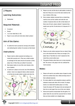 Subtraction Game - Island Hop