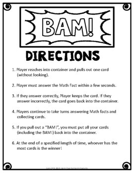 Subtraction Game - Subtraction BAM Game - Zap, Kaboom!