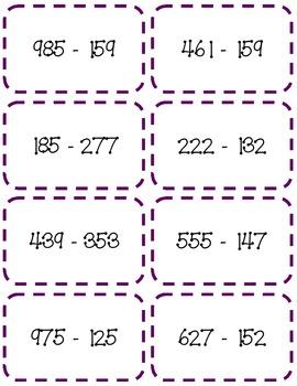 Subtraction Game:  Three Digit