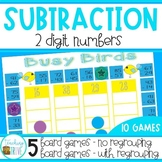 Two Digit Subtraction with and without Regrouping Bundle