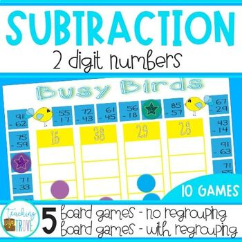 Two Digit Subtraction with and without Regrouping