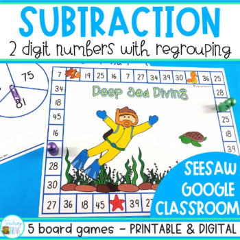 Two Digit Subtraction with Regrouping Games