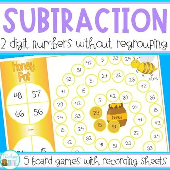 Two Digit Subtraction without Regrouping