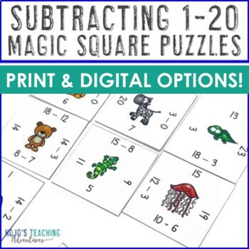 Subtraction Activities | Subtracting Centers & Stations 0-20