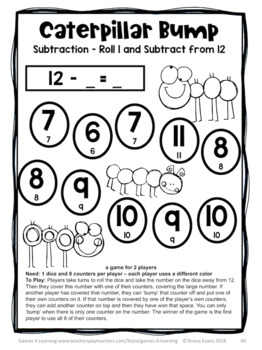 Subtraction Bump Games: 25 Subtraction Games for Subtraction Facts