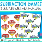 Subtraction Games - 3 digit subtraction with regrouping