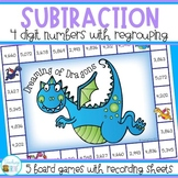 Subtraction Games - 4 digit subtraction with regrouping