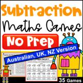 Subtraction Activity - NO PREP Maths Games [AUST UK NZ CAN Edition]