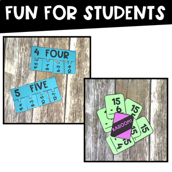 Subtraction Games: Fact Fluency Pocket Games