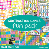 Subtraction Games Fun Pack - No Prep Games and Worksheets