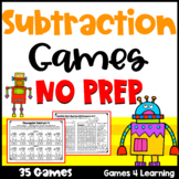 Subtraction Games NO PREP Math Games for Subtraction Facts Fluency