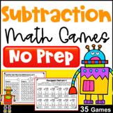 Subtraction Games for Fact Fluency: NO PREP Math Games