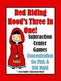 Little Red Riding Hood's Subtraction Math Center Games