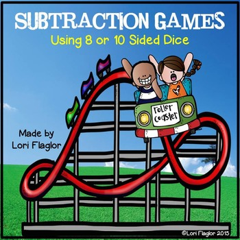 Subtraction Games Using 8 or 10 Sided Dice