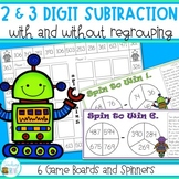 Two and Three Digit Subtraction with and without Regrouping