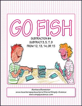 Subtraction Go Fish 4
