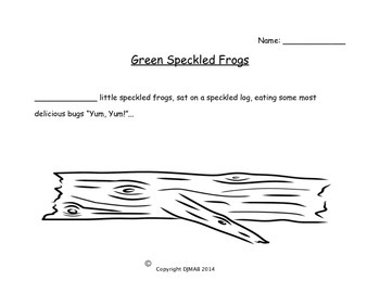 Subtraction - Green Speckled Frogs