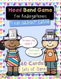 Subtraction Head Band Game for Kindergarteners