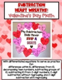 Subtraction Heart Wreath - Valentine's Day Math Activity (DIFFERENTIATED!)