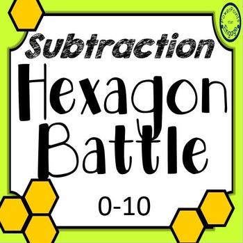Subtraction Hexagon Battle 0-10