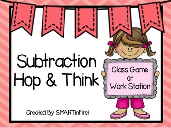 Subtraction Hop and Think Game