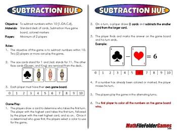 Subtraction Hue - 1st Grade Math Game [CCSS 1.OA.C.6]