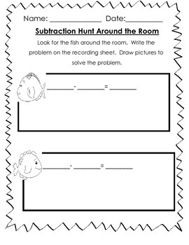 Subtraction Hunt Around the Room