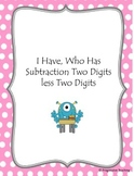 Subtraction I Have, Who Has - Two Digits less Two digits