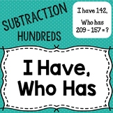 "Subtraction ""I have, who has"" (Hundreds)"