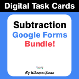 Subtraction - Interactive Digital Task Cards - Google Form