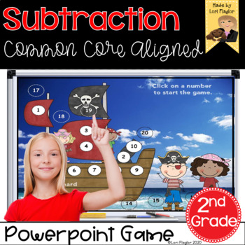Subtraction Interactive PowerPoint  Math Game Second Grade Edition