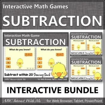 Subtraction Interactive Math Games {Dancing Chick} Bundle