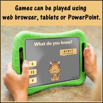 Interactive Math Games Subtraction Bundle {Dancing Tiger}
