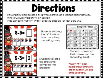 Subtraction Interactive Power Point Circus Themed