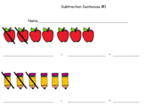 Subtraction Intro Worksheets!