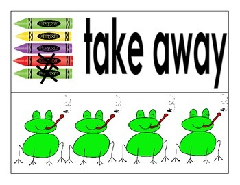 Subtraction Introduction Activities For Kindergarten
