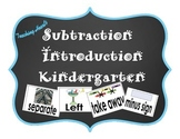 Subtraction Introduction Activities For Kindergarten