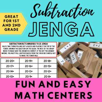 Subtraction Jenga (Minuends to 20)