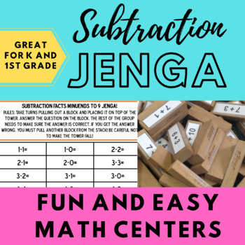 Subtraction Jenga (Minuends to 9)