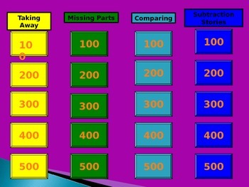 Subtraction Jeopardy