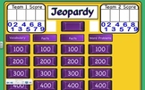 Subtraction Jeopardy Review Game