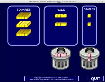 Subtraction Jiggy : Place Value Subtraction with Borrowing Concept Game
